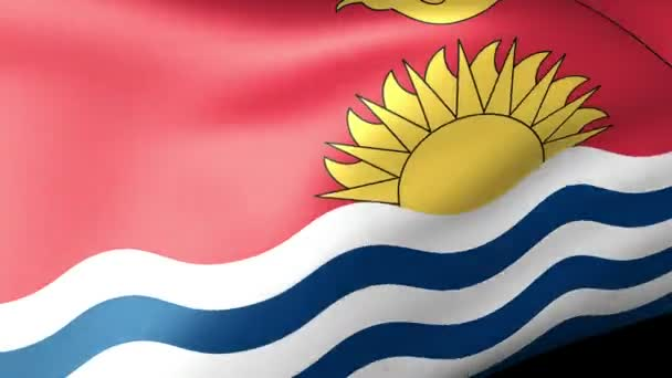 Kiribati flag waving