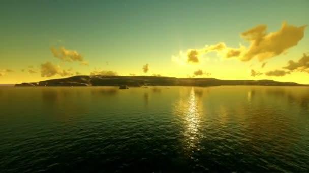 dům na tropickém ostrově na východ slunce
