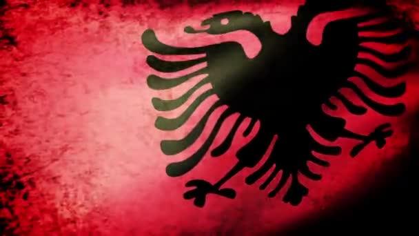 Albanian flag waving