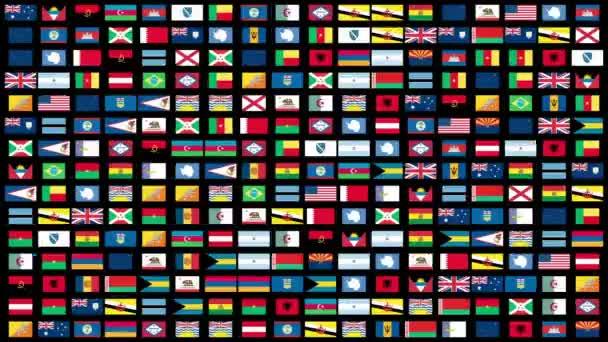 Vlajky světa animace