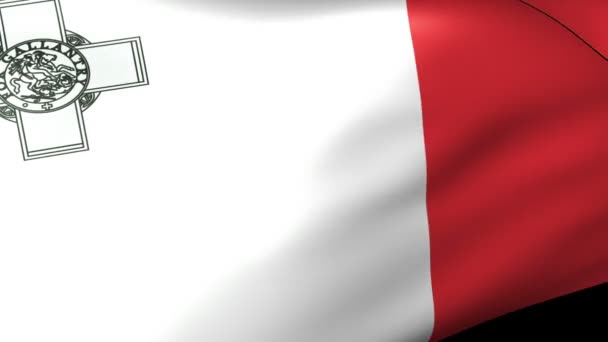 Malta flag waving