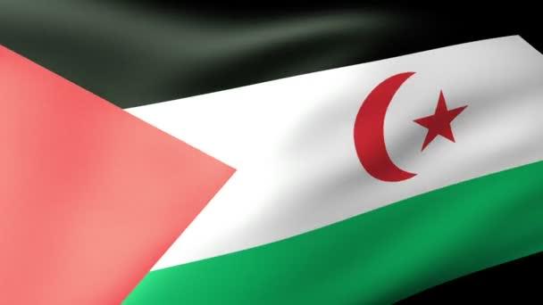 mávání vlajkami západní sahara