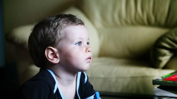 boy with blue eyes profile