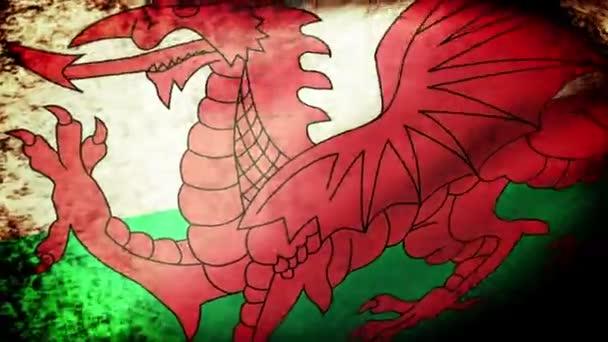 mávání vlajkami Walesu