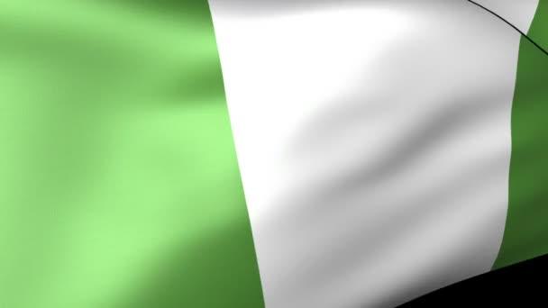 mávání vlajkami Nigérie