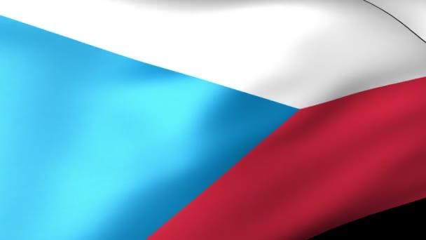 Česká vlajka mávání
