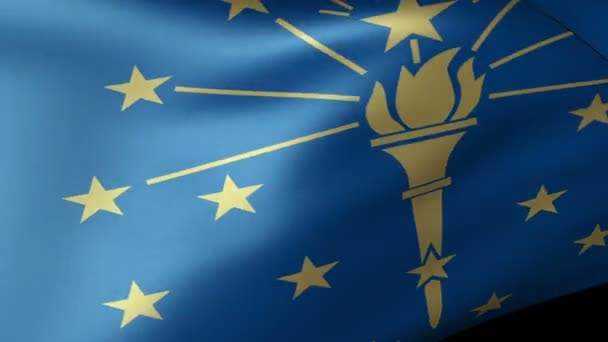 Indiana State flag waving