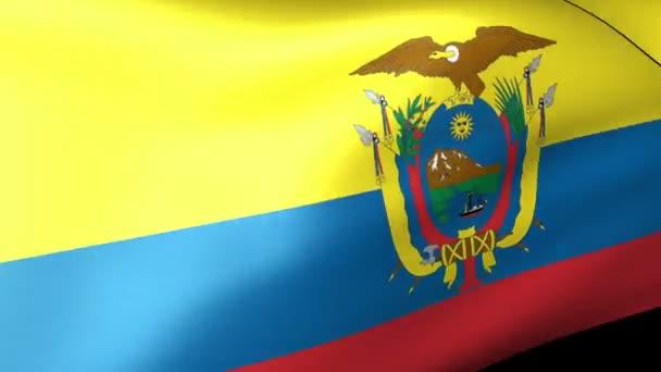 mávání vlajkami Ekvádor