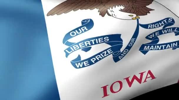 Iowa state flag waving