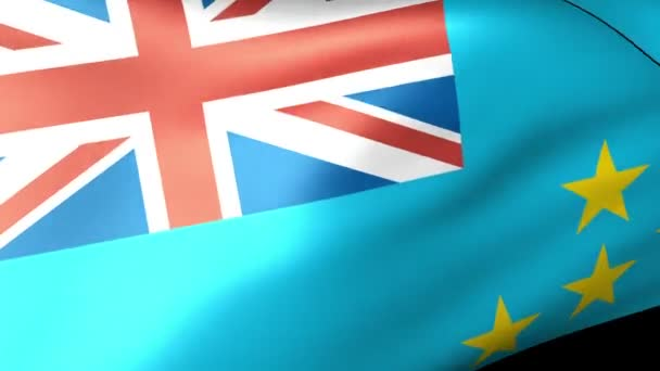 Tuvalu zászlót lengetve