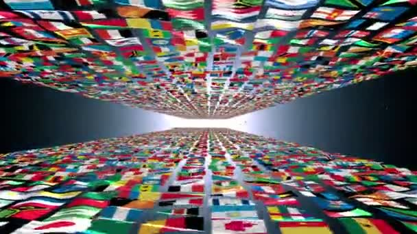 Carpet of world flags
