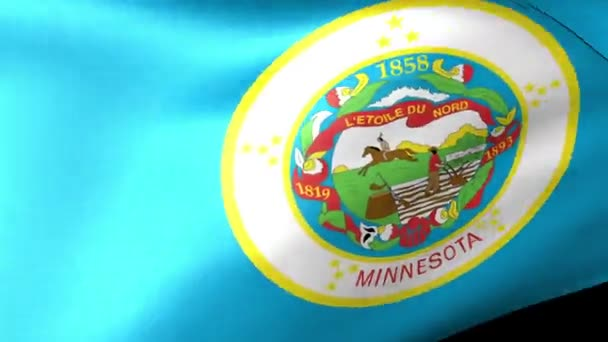 Minnesota State flag waving