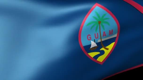 Guam State flag waving