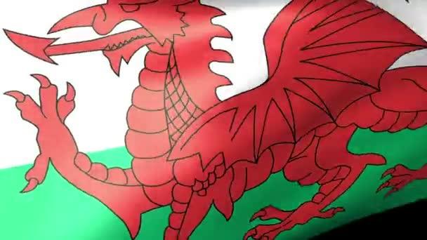 walesi zászló integet