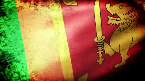 Sri Lanka flag waving