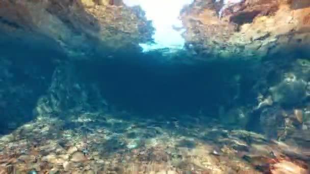 Plavání pod vodou řeky
