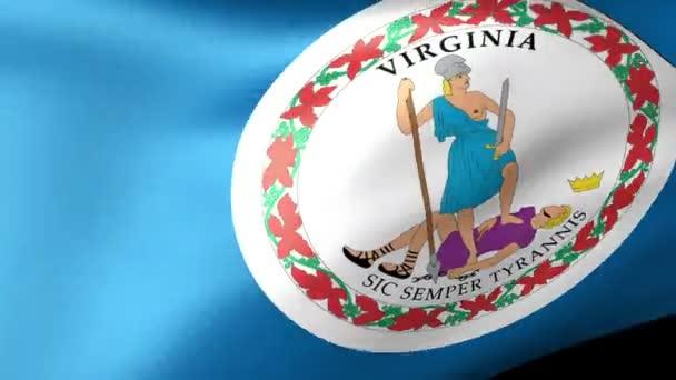 Virginia State flag waving