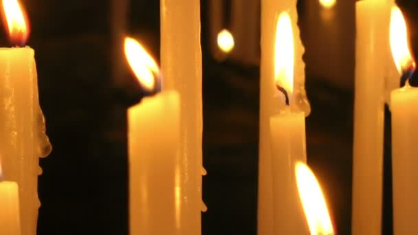 close up of burning candles