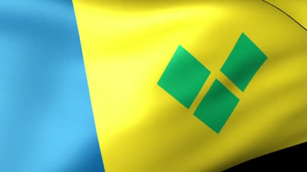 St  Vincent and the Grenadines flag waving