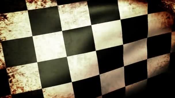 bandiera a scacchi sventolare