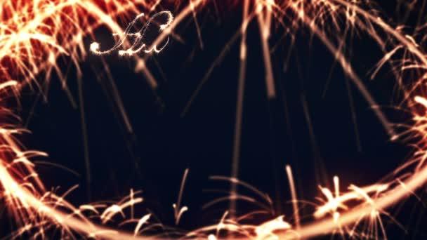 Boldog új évet csillagszóró
