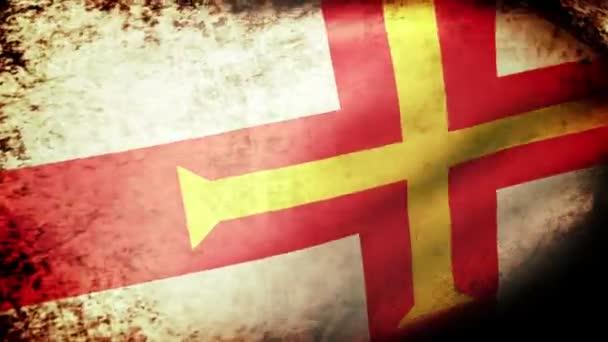 Guernsey flag waving