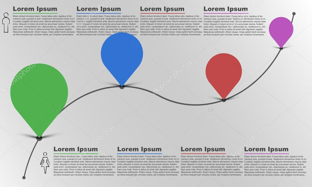 Time line infographic, infographics, bubble infographic