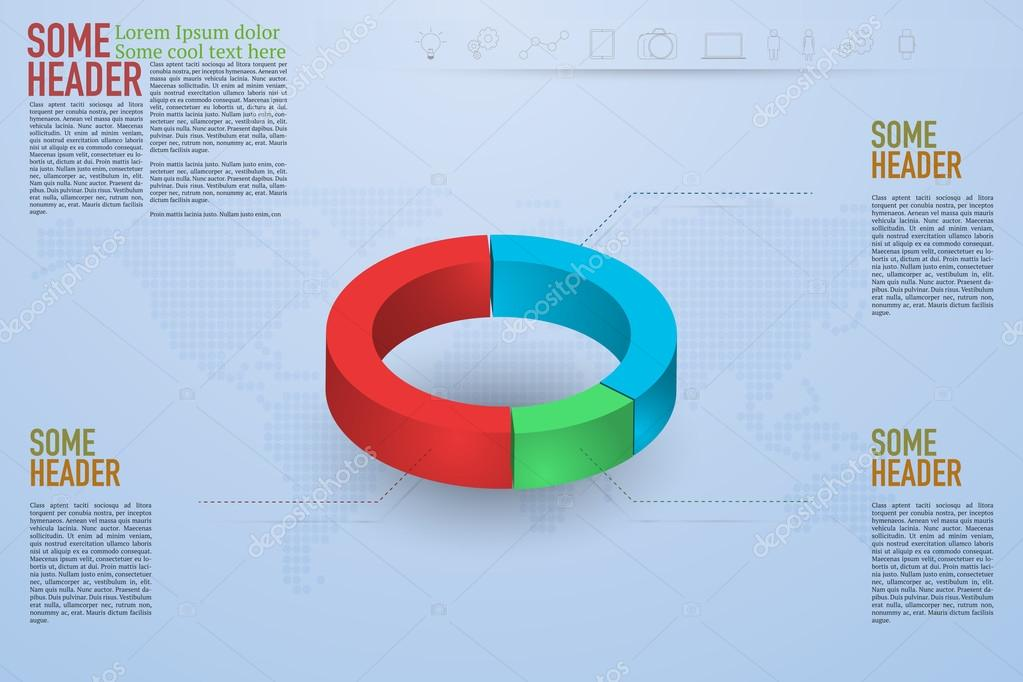 Modern 3d pie chart infographics on blue gradient background with modern 3d pie chart infographics on blue gradient background with dotted world map and outline icons gumiabroncs Images