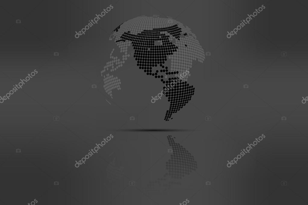 Globe with world map in grayscale colors with shadow rounded dotted globe with world map in grayscale colors with shadow rounded dotted world map representing planet gumiabroncs Image collections