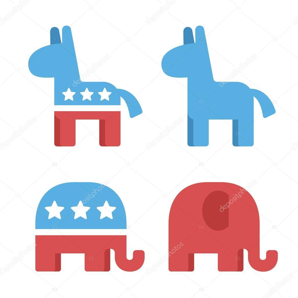 Democrat and republican symbols stock vector sudowoodo 103598370 democrat and republican symbols stock vector 103598370 buycottarizona