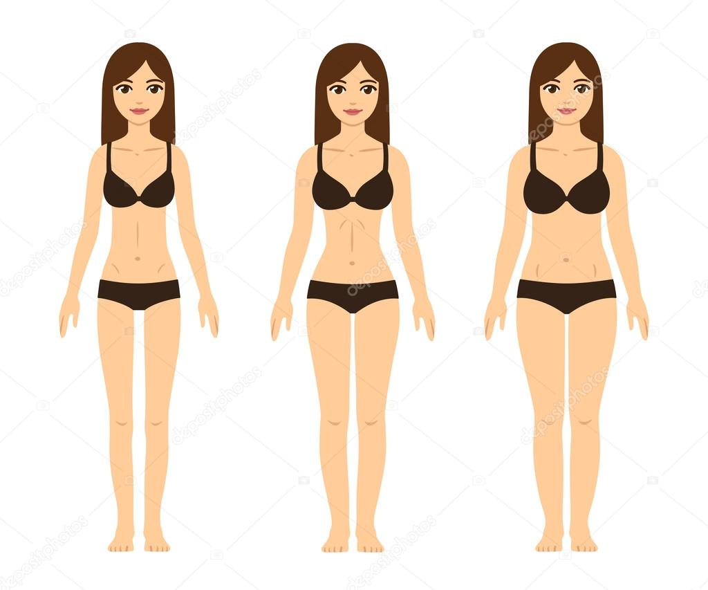 tipos de cuerpo femenino — Archivo Imágenes Vectoriales © Sudowoodo ...