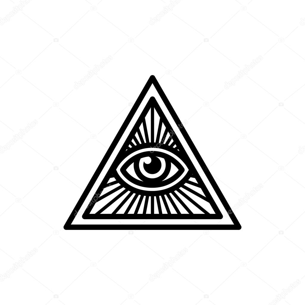 All Seeing Eye Symbol Stock Vector Sudowoodo 115988450