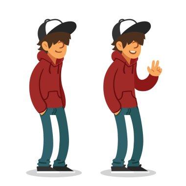 Teenage boy illustration