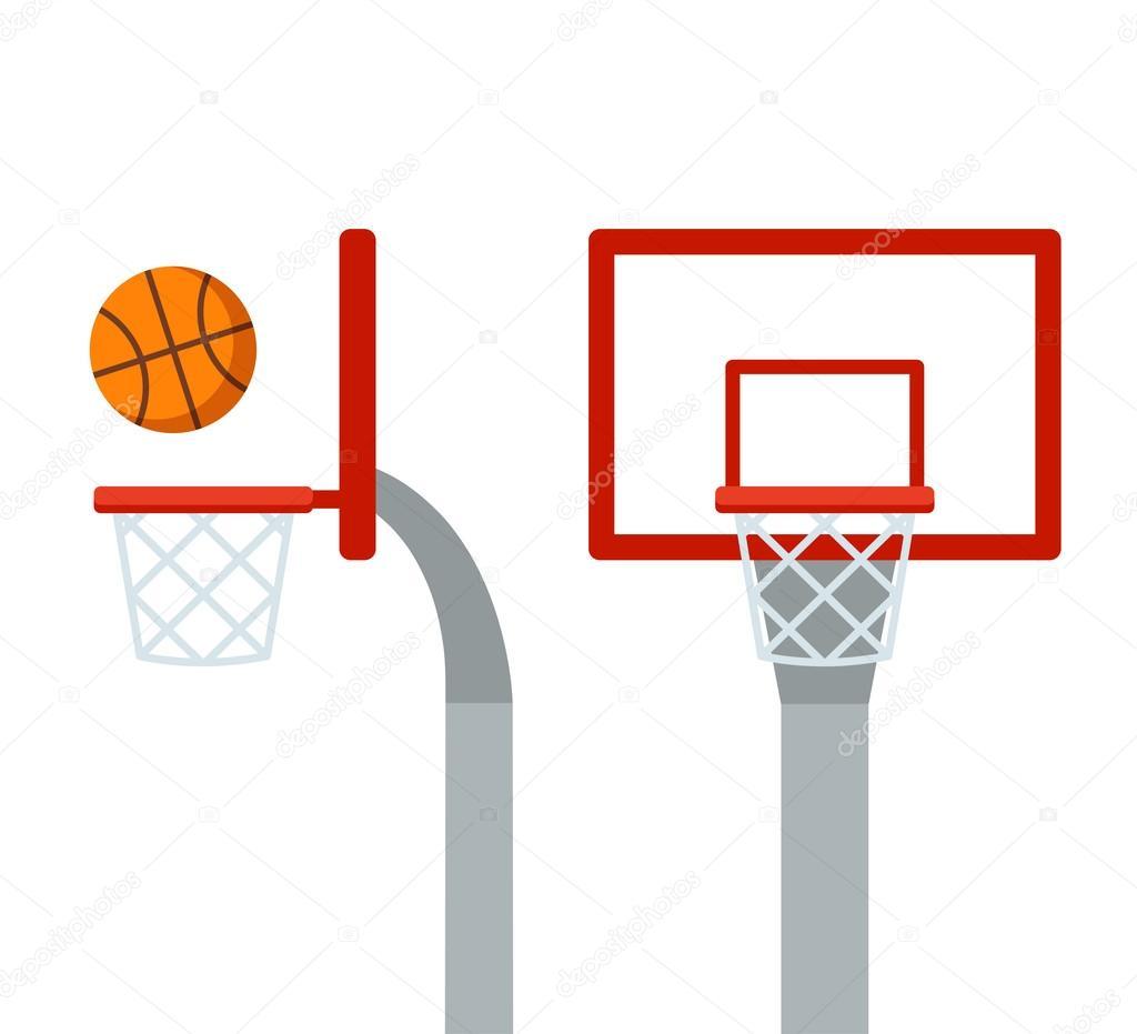 basketball hoop and ball stock vector sudowoodo 118205566 rh depositphotos com basketball court vector drawing basketball court vector illustration