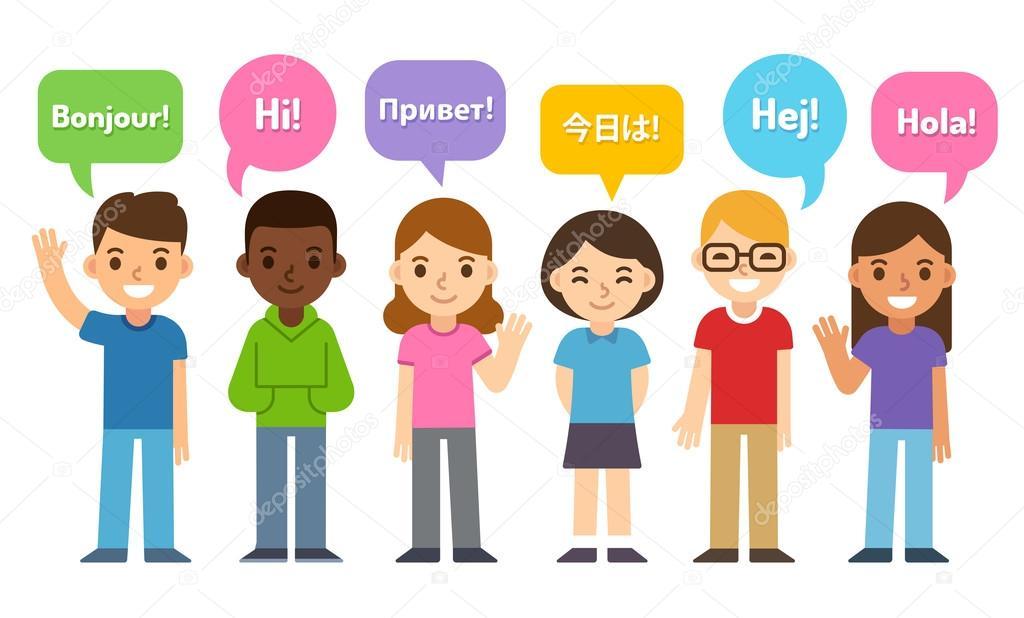 Niños Decir Hola En Diferentes Idiomas