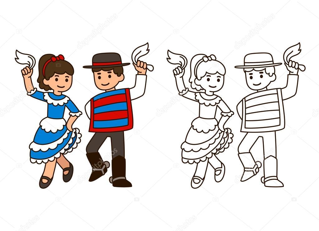 Dibujos: Animados Bailando Cueca