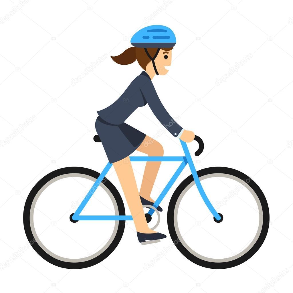 mulher de negócios andar de bicicleta vetor de stock sudowoodo