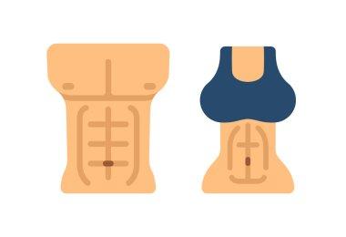 Male and female torsos