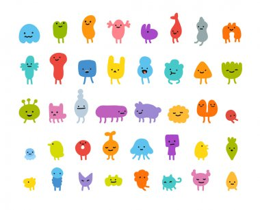 cute little cartoon monsters