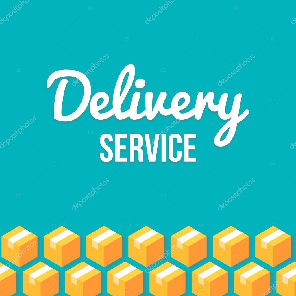 Delivery service design template — Stock Vector © Sudowoodo #78728606