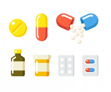Drugs and pills icons