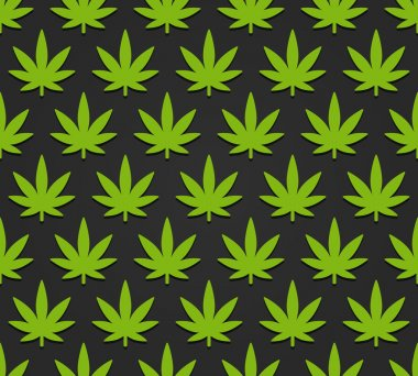 Cannabis leaves pattern