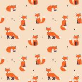 Photo seamless fox pattern