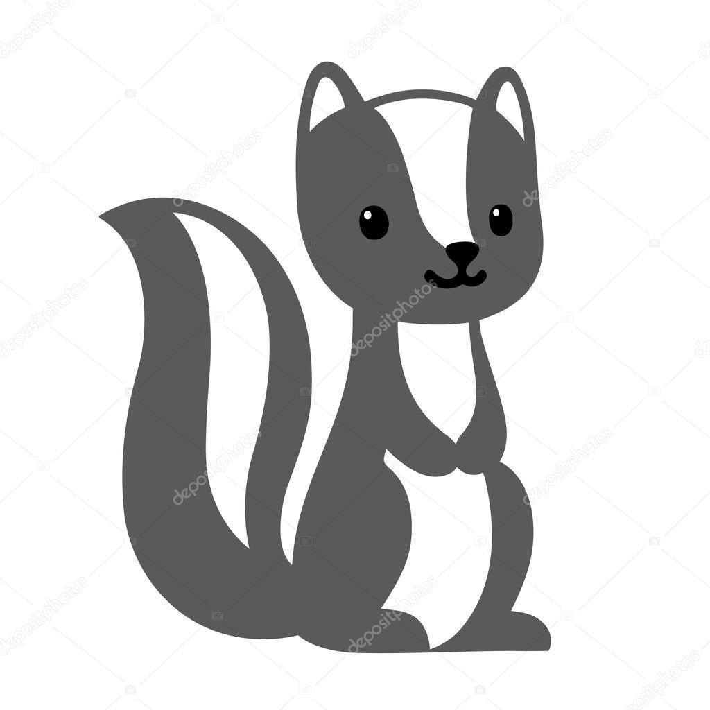 Cute cartoon skunk — Stock Vector © Sudowoodo #90623338