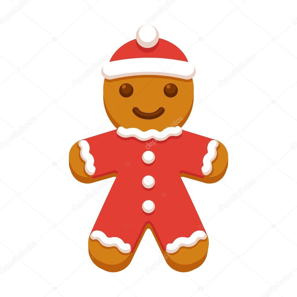 Imagenes De Galletas De Navidad Animadas.Galleta De Navidad Hombre De Pan De Jengibre Vector De
