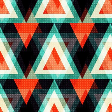 colored polygons on a dark background. Seamless geometric pattern. vector illustration