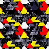 Fényképek Graffiti kis színes sokszögeket, a fekete háttér grunge textúra varrat nélküli mintát