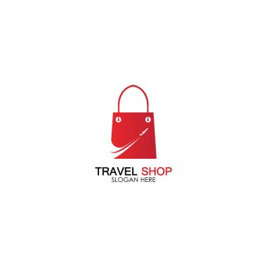 Travel Shopping logo design template icon