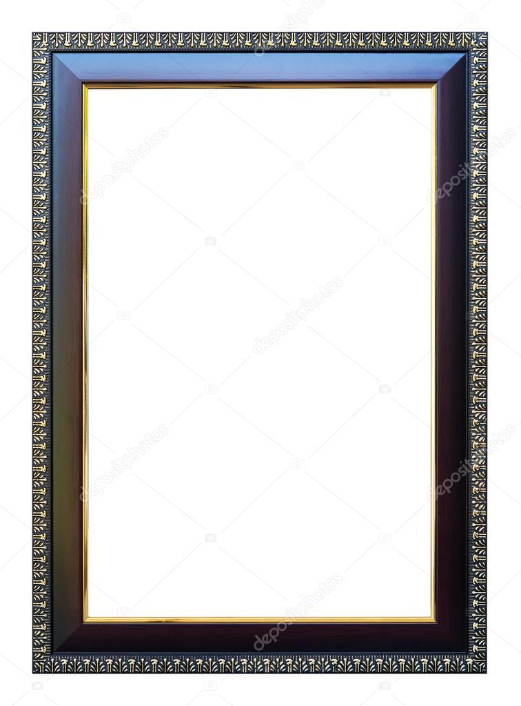 Marco tamaño 8 X 12 color oscuro roble acabado oro — Foto de stock ...