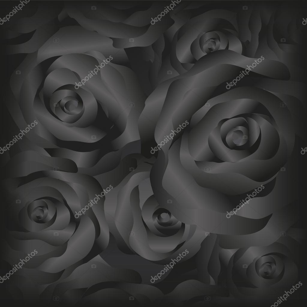 Rose Nere Di Vettore Vettoriali Stock Slay19 107783262